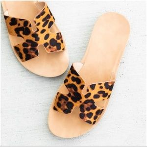 Leopard Print Summer Slide Sandal
